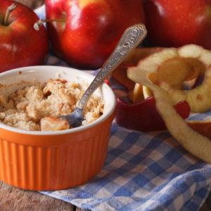 Crumble d'automne pomme, poire et banane