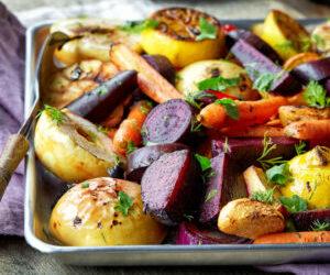 Légumes d'automne rôtis au four par Cyril